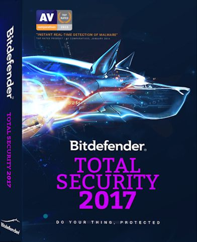 Bitdefender Total Security 2017 + Crack Trial Reset (x86x64)