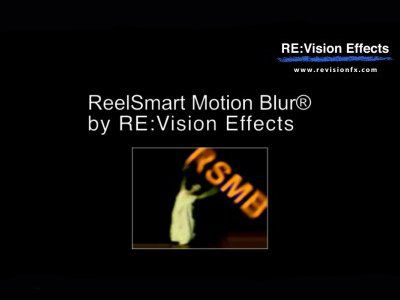 RevisionFX ReelSmart Motion Blur for OFX 5.2.8 Crack