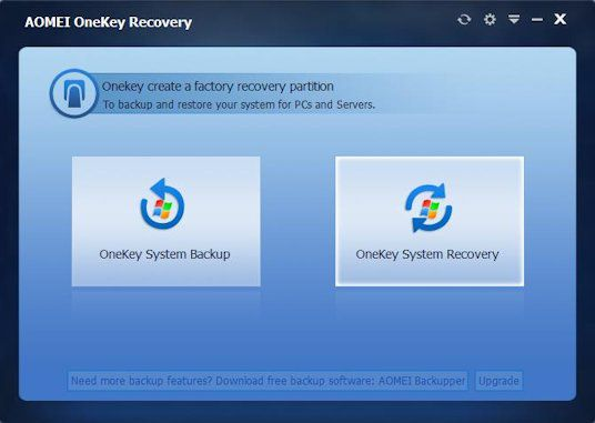 AOMEI OneKey Recovery 1.6 Full Cracked