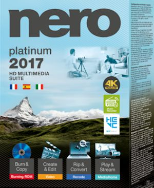 Nero 2017 Platinum Serial Key + Content Full Version