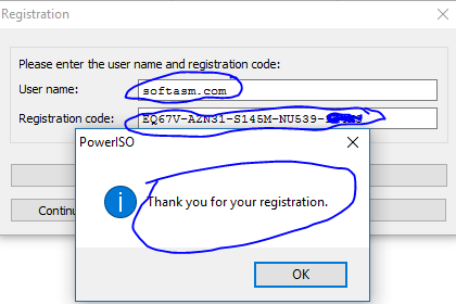 poweriso says illegal license key 2015